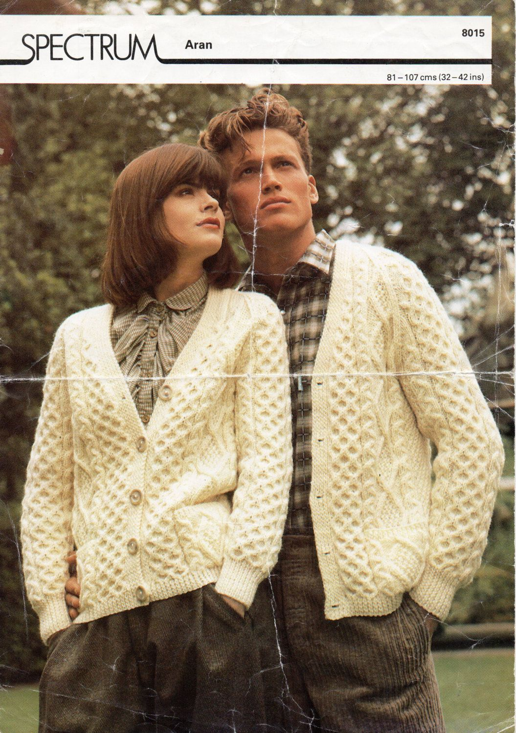63ae88b16cc0fe Womens   mens Aran cardigan knitting pattern PDF Aran Jacket v neck pockets…