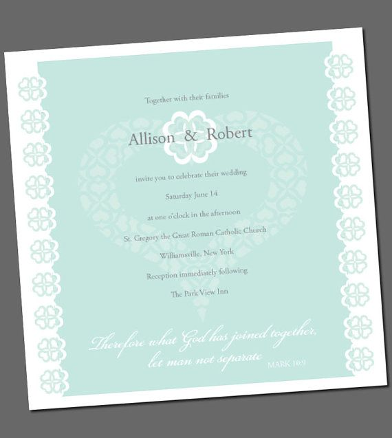 Wedding Invitation With Bible Verse Fresh By Ellenmorseoriginals 15 00 Wedding Invitations Wedding Bible Quotes Wedding Invitation Wording