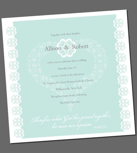 Wedding Invitation With Bible Verse Fresh By Ellenmorseoriginals 15 00 Wedding Bible Quotes Wedding Invitations Wedding Invitation Wording