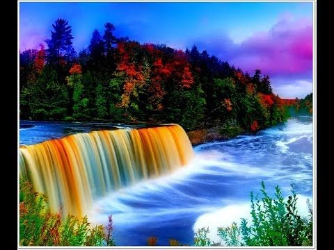 Good Morning Beautiful Nice Animation With Natural Scenery Wish You A Very Good Morning Yout Beautiful Nature Scenes Waterfall Wallpaper Rainbow Waterfall