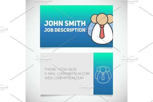 Business card print template vector print templates card business card print template vector graphics business card print template with company personnel logo easy edit manager employer reheart Image collections