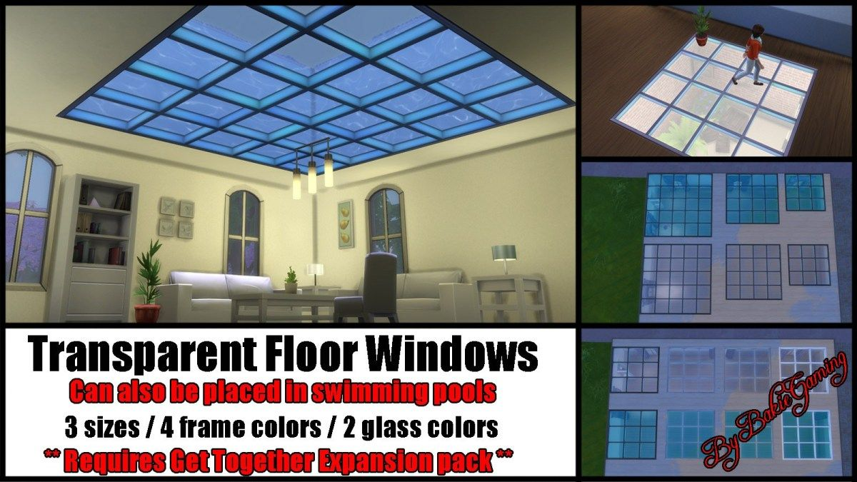 Transparent Floor Windows Sims 4 build, Sims 4 cc