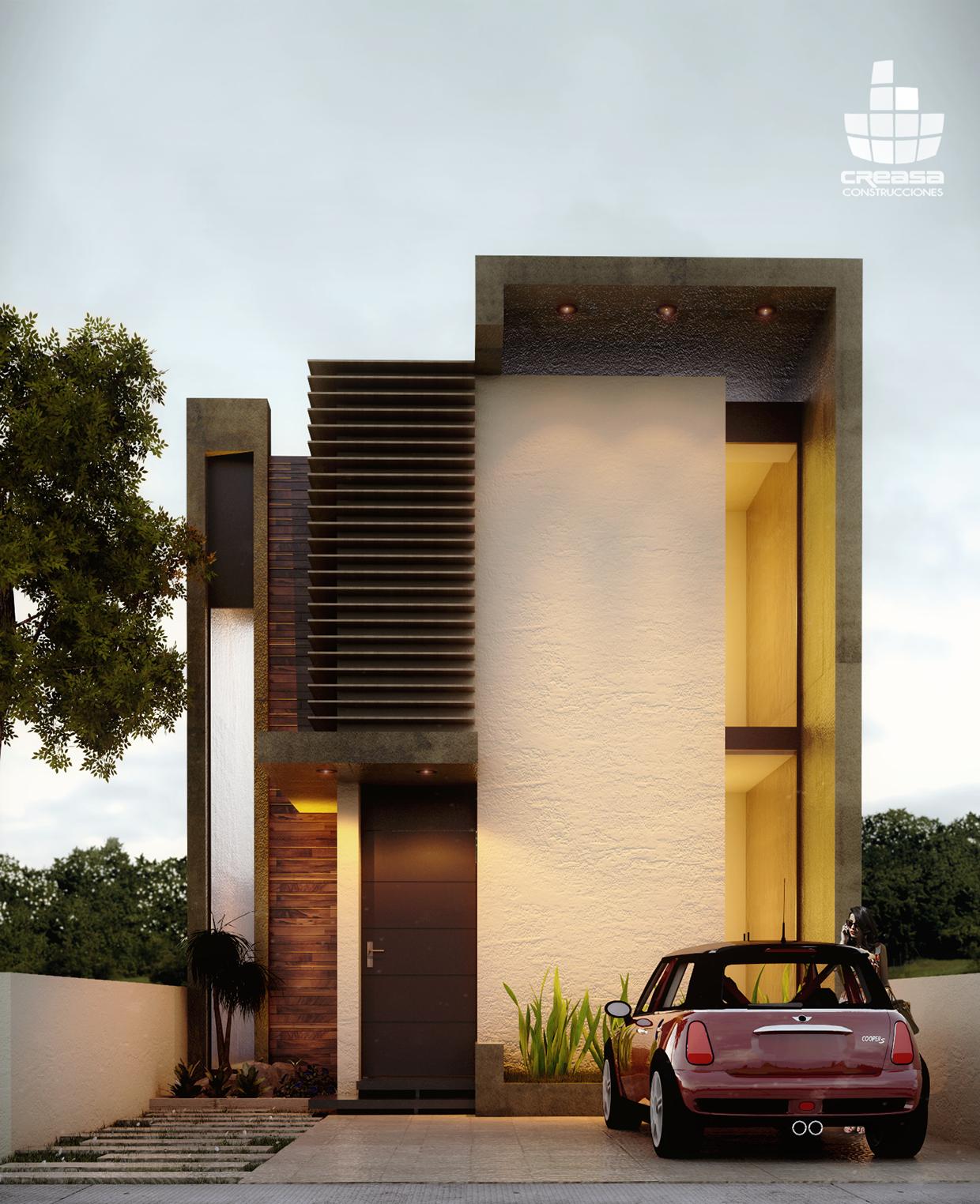 Sensacional cuadrada y minimalista fachadas for Casa minimalista en