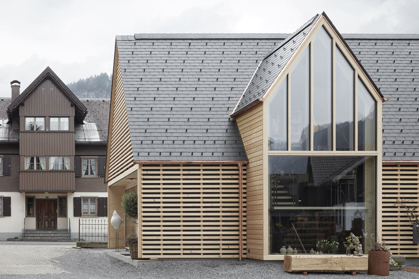 Extension Building For Gardening Shop Strubobuob Picture Gallery Roof Architecture Fibreglass Roof Architecture