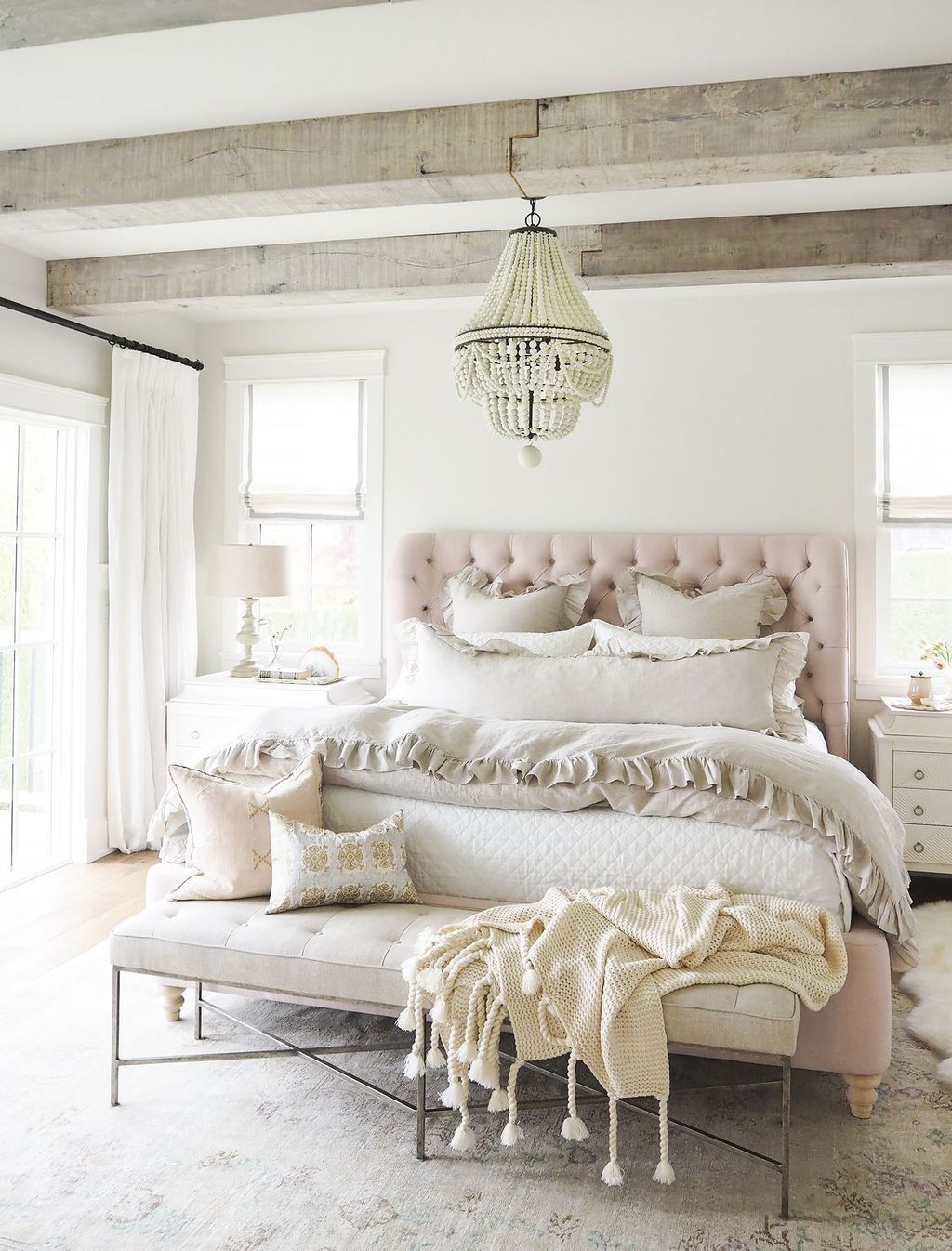 Romantic master bedroom decor  Awesome  Romantic Rustic Farmhouse Master Bedroom Decoration Ideas
