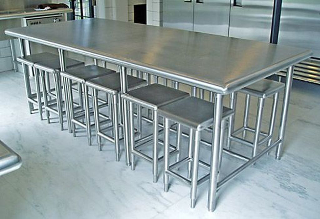 Are You Looking For An Environmental Friendly Kitchen Table But At The Same T Stainless Steel Kitchen Table Stainless Steel Countertops Stainless Steel Table
