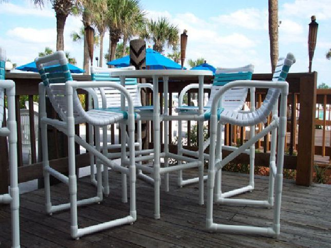 Photo 03 Bar Heigh PVC Patio Furniture More