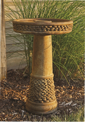 Shimmering Stones Birdbath Bird Bath Concrete Bird Bath Bird Baths For Sale