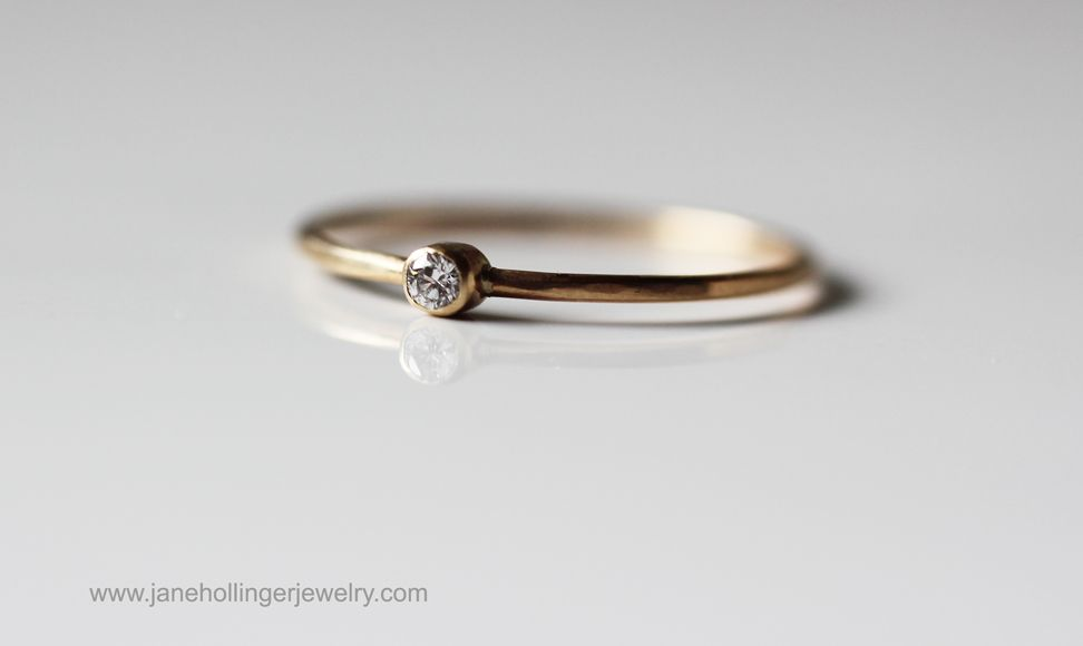 "Our ""BABY DIAMOND"" ring.... http://www.janehollingerjewelry.com/detail.htm?jewelry=RINGS&RINGS=Diamonds&item=Baby_Diamond"