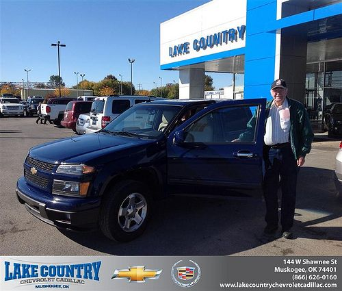 Thank you to William Pierce on your new 2011 #Chevrolet #Colorado from Jeff Hall and everyone at Lake Country Chevrolet Cadillac! #NewCarSmell