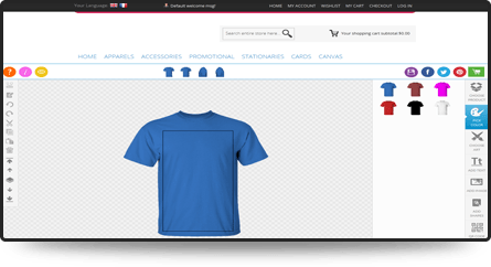 Product Design Software Is An Online Custom T Shirt Designer Tool To Create Custom Design Of Personalized Products Printing Software Tool Design Design