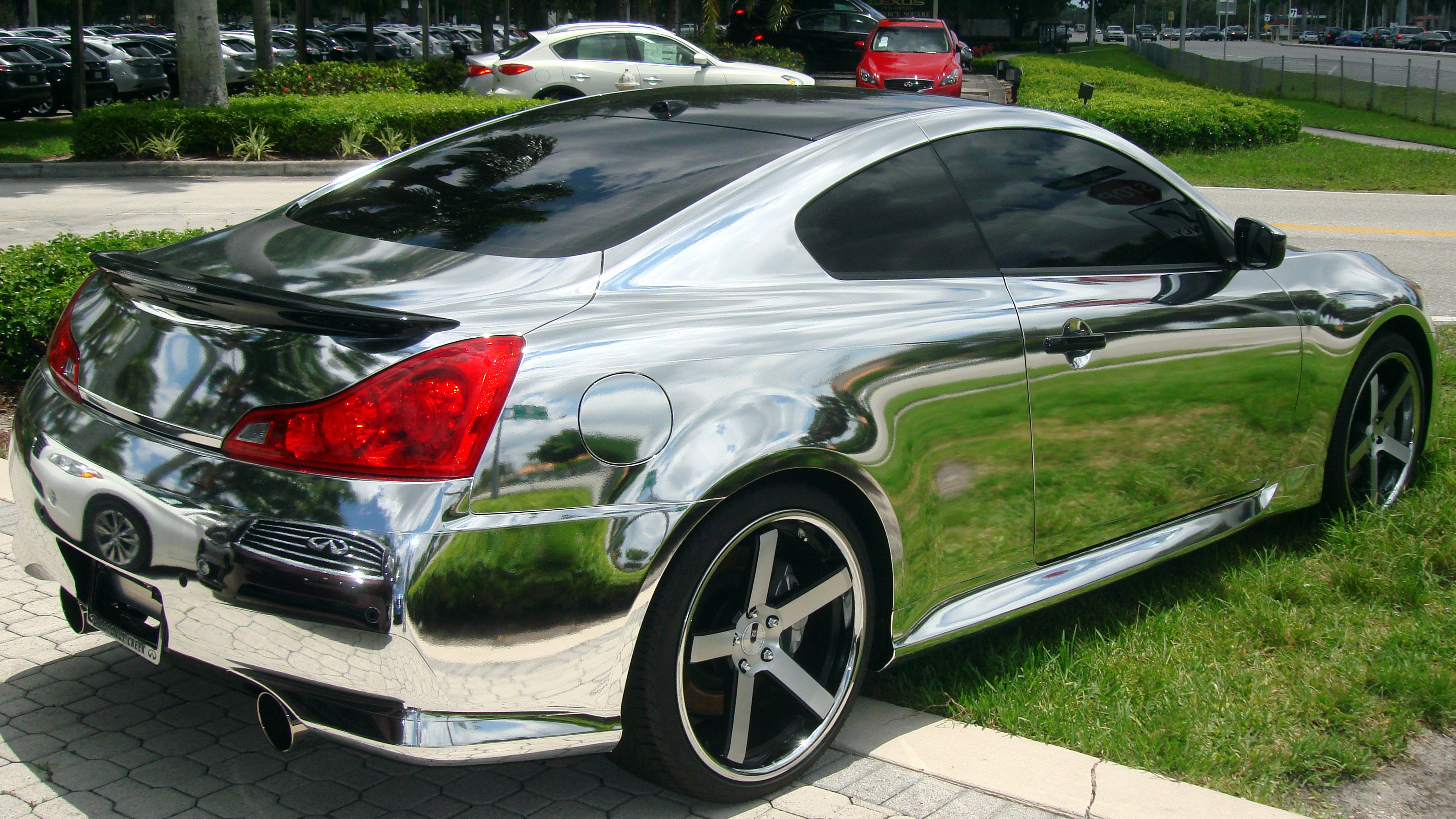 85 000 infiniti ipl g37 chrome wrap we spotted at our local dealer a while back what the. Black Bedroom Furniture Sets. Home Design Ideas