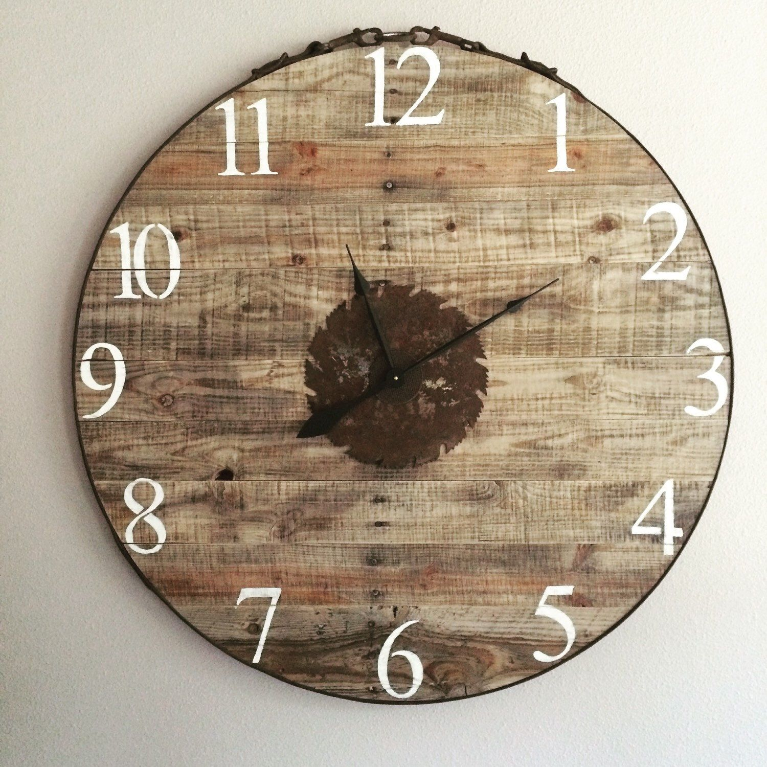 """35"""" Horse tack Pallet Clock by PenneCarter on Etsy https://www.etsy.com/listing/255147361/35-horse-tack-pallet-clock"""