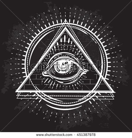 06ec0d9f4221c Vector All seeing eye pyramid symbol. Tattoo design. Vintage hand drawn  freedom, spiritual, occultism and mason sign in Sketch style.
