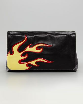 b2b181fb84f5 Flame Flap Clutch Bag by Prada - have this and wear it all the time ...