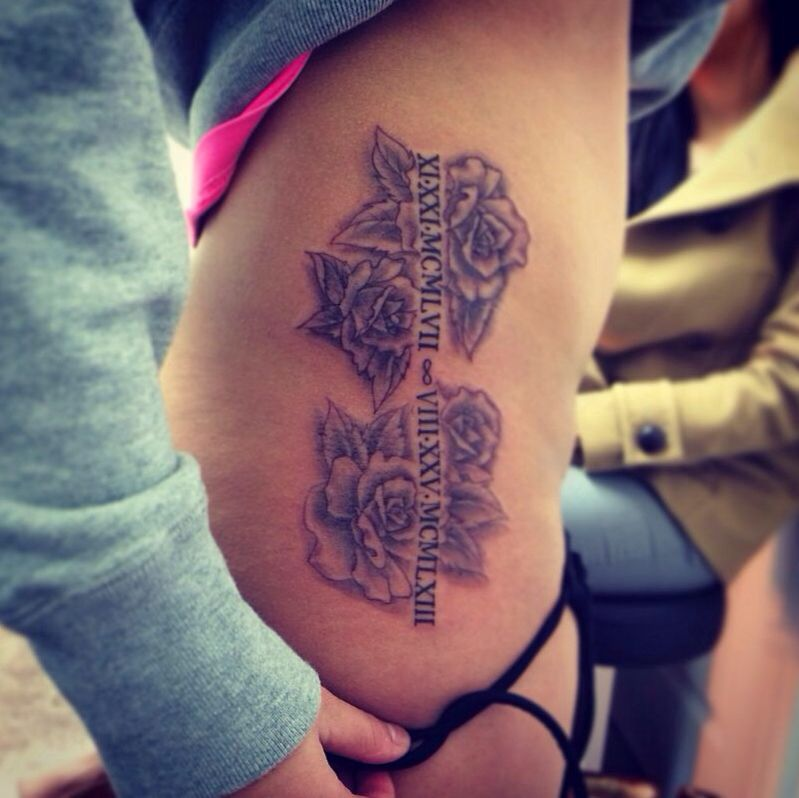Rose Tattoo Dedicated To The Fam. 2 Big Roses For The