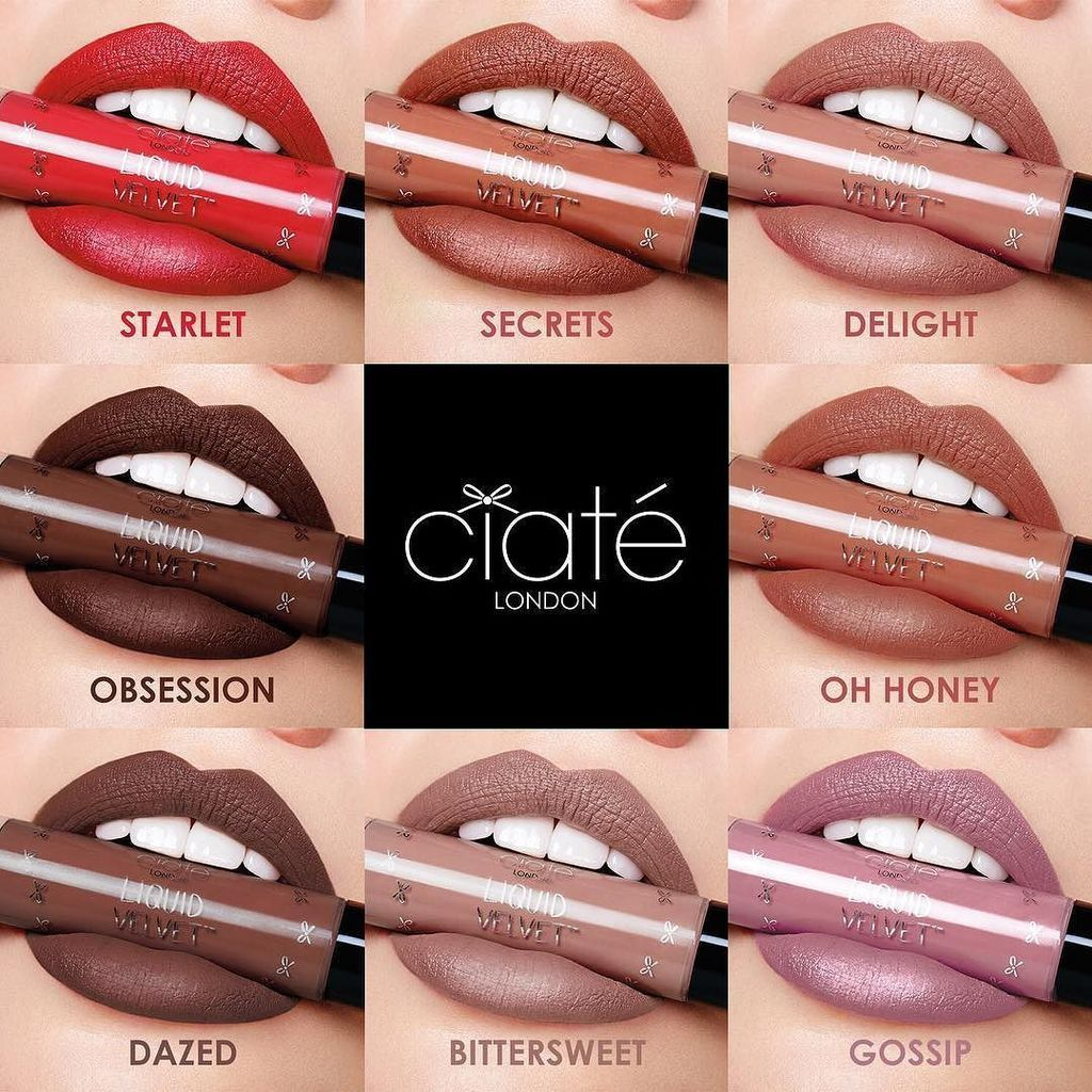 Ciate Makeup: Ciate Lip Velvet Swatches