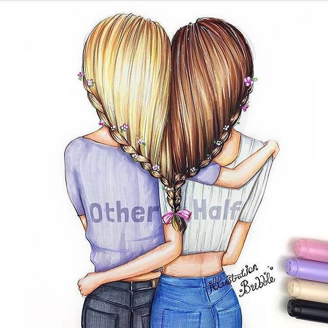 Love Is Love Bff Drawings Drawings Of Friends Best Friend