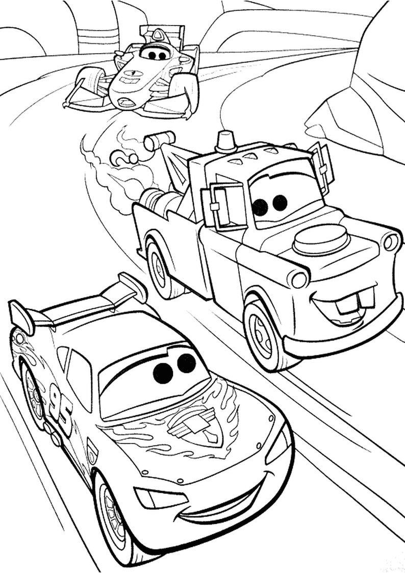 Disney Cars Coloring Pages Unique Pin by Goldline On ...