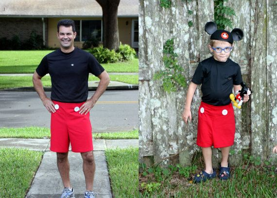 Men's Mickey Mouse style Running Shorts by