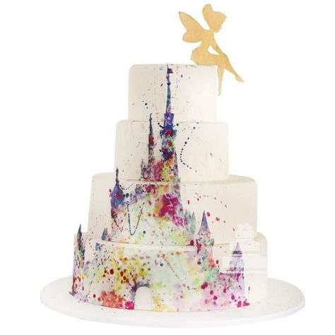 An amazing and magical Disney Castle is the main piece of this delicious fourstory cake Our Chef detailed this majestic Castil amazing