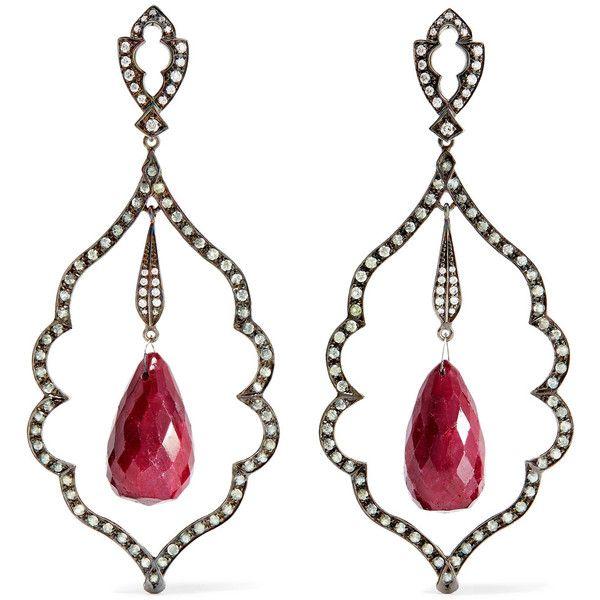 Loree Rodkin 18-karat White Gold Multi-stone Earrings Kwrr9O2nPO