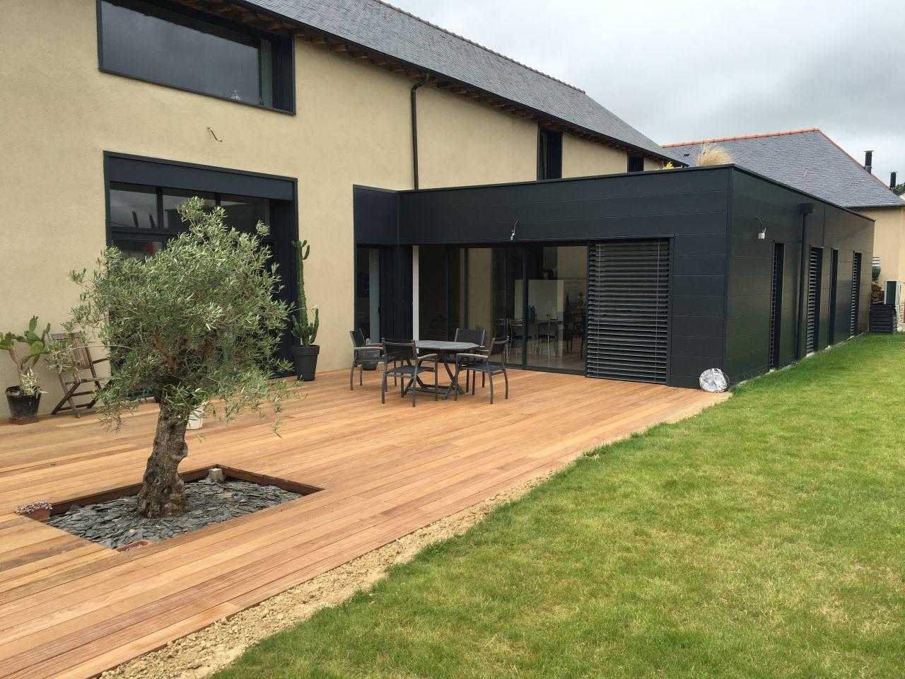 terrasse bois cumaru projet dune longre en terre contemporaine sur pac par stphanekarine