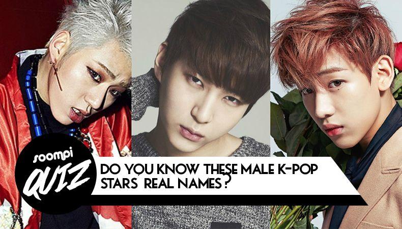 Quiz Do You Know These Male K Pop Stars Real Names K Pop Star Kpop Pop