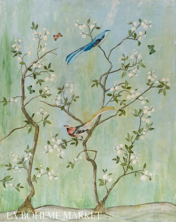 Sweet Chinoiserie I – Fine Art Paper Print