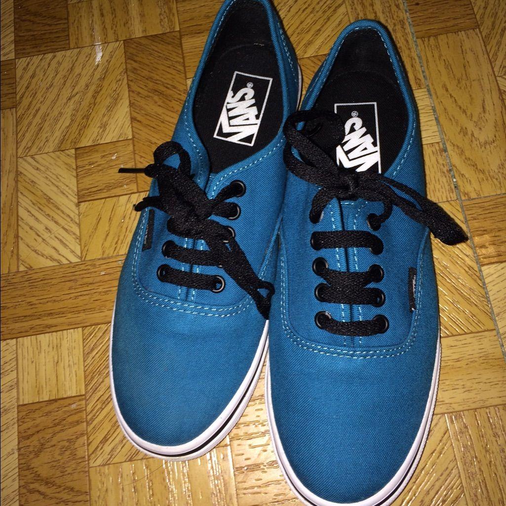 Ocean Blue Authentic Lo Pro Vans