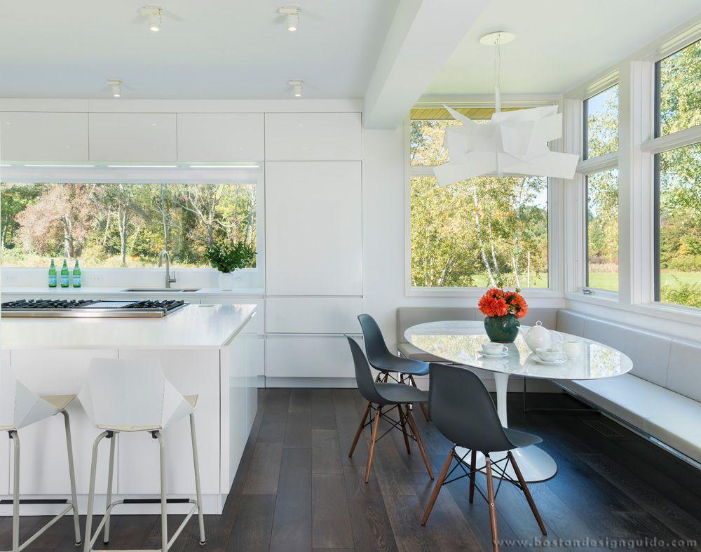 All White Kitchen with Open Windows (Interior Design by Atsu Gunther ...