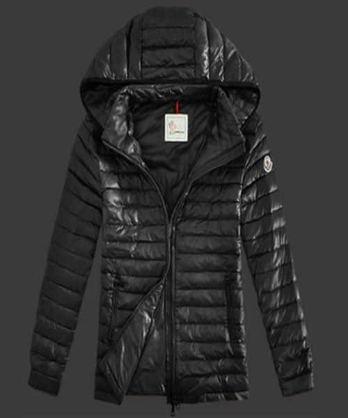 Moncler Lionel Mens Down Jackets Zip Hooded Black