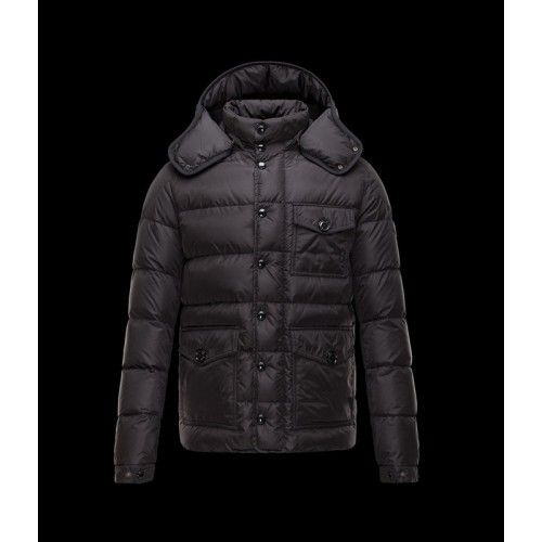 Hot Zwart Heren Moncler Bloated Jas 2015