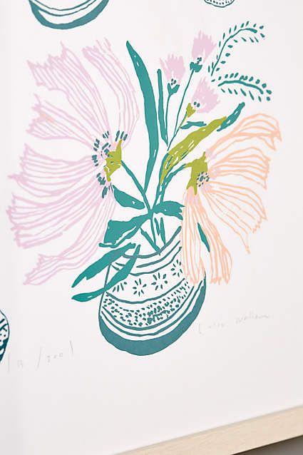 by Lulie WallaceBouquets En Vase Print - anthropologie.com