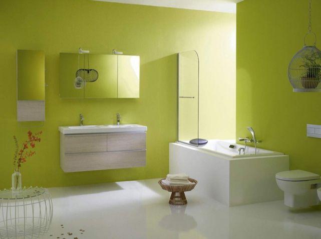 1000 images about salle de bain on pinterest - Salle De Bain Blanche Et Verte