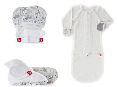 Gloves and Mittens 163225: Goumikids Newborn 3 Piece Set, No Scratch Mittens, Stay On Booties, And Beanie -> BUY IT NOW ONLY: $60 on eBay!