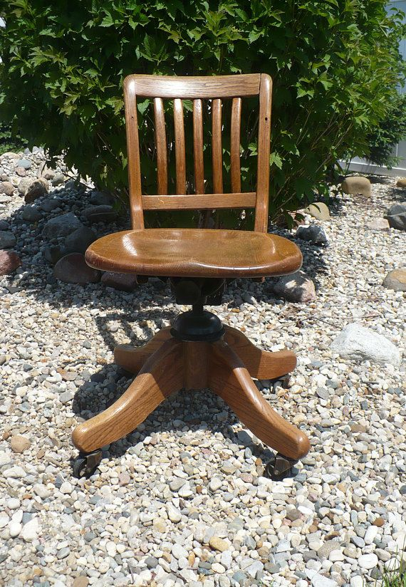 Vintage Office Chair, Rolling Swivel Desk Chair by H Krug Kitchener