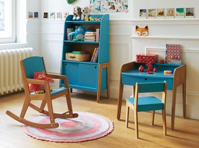 bureau enfant vintage colore alinea