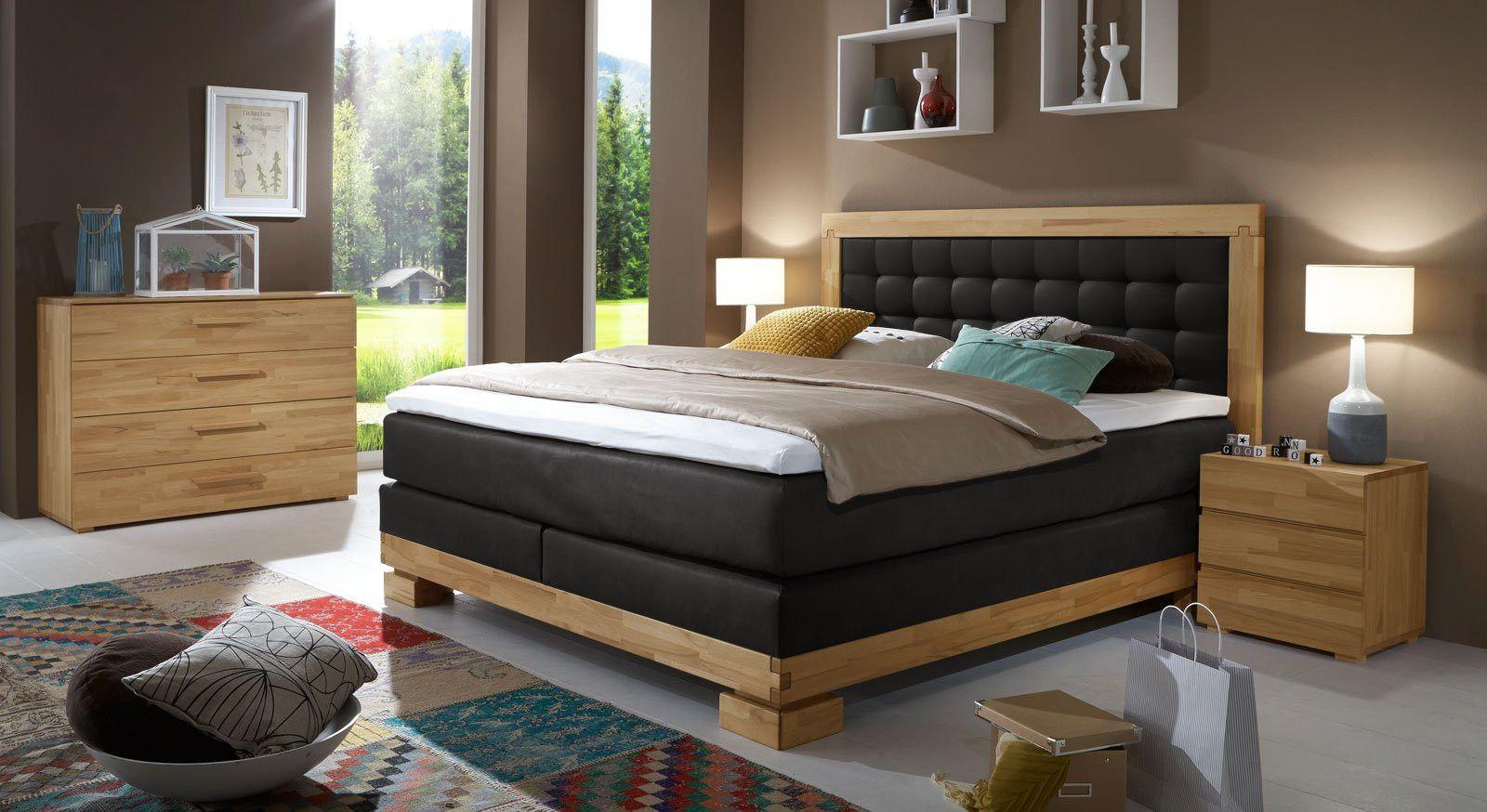 schlafzimmer komplett guenstig mit boxspringbett (Dengan