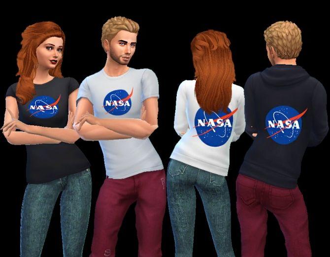 NASA shirt and hoodie at AuriSims