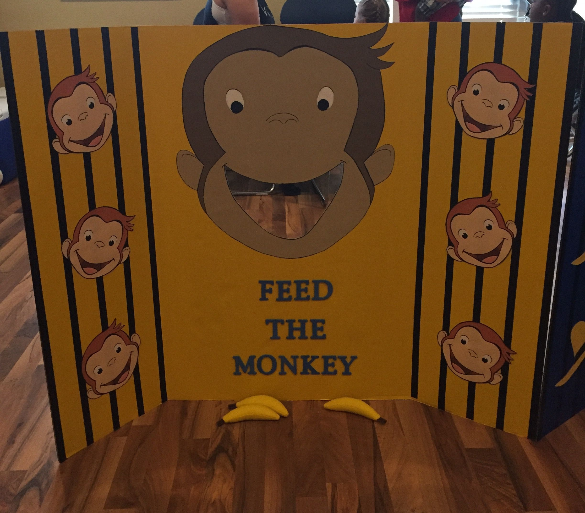 Krafty kidz center curious george coloring pages - Feed The Monkey Game For Curious George 1st Birthday Party With A Handmade Painted Monkey