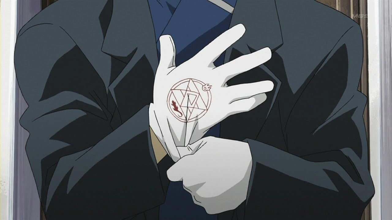 Roy Mustangs Ignition Cloth Gloves I Always Wondered Why These Didn T Burn Up I Mean It Woul Fullmetal Alchemist Fullmetal Alchemist Brotherhood Alchemist