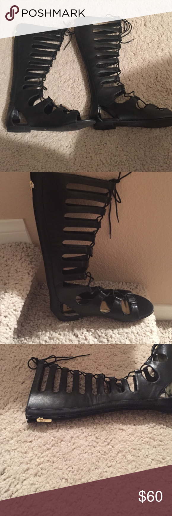 BAR111 gladiator sandals Gladiator sandals! Worn once! I can't wear flats anymore!😟 These are so cute! Can be worn with shorts. Skirts, summer dresses! I have even seen them being paired with bathing suits!! In excellent condition! Bar III Shoes Sandals