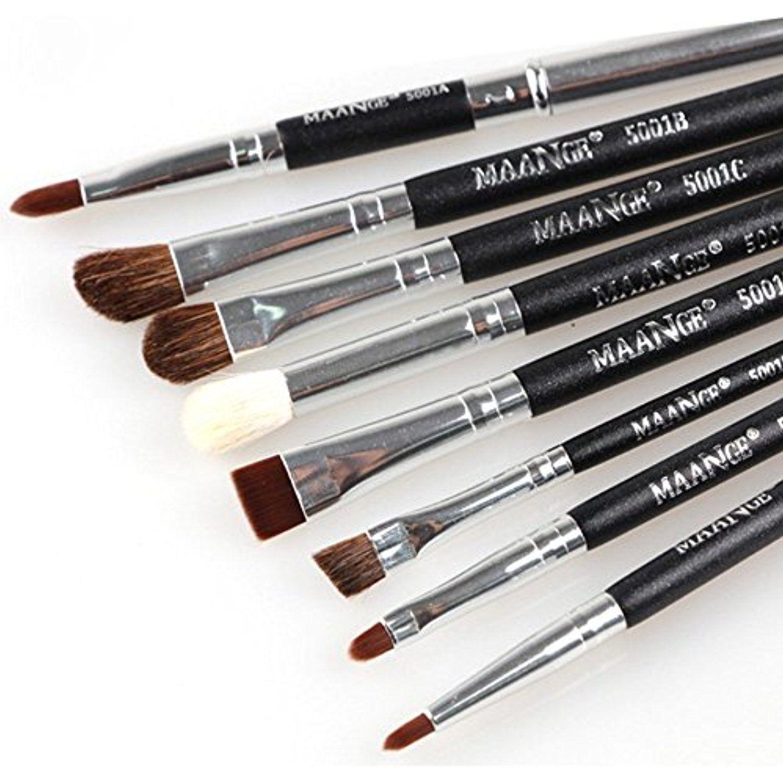Professional 8Pcs Eye Brushes Set Eyeliner Shadow Blend