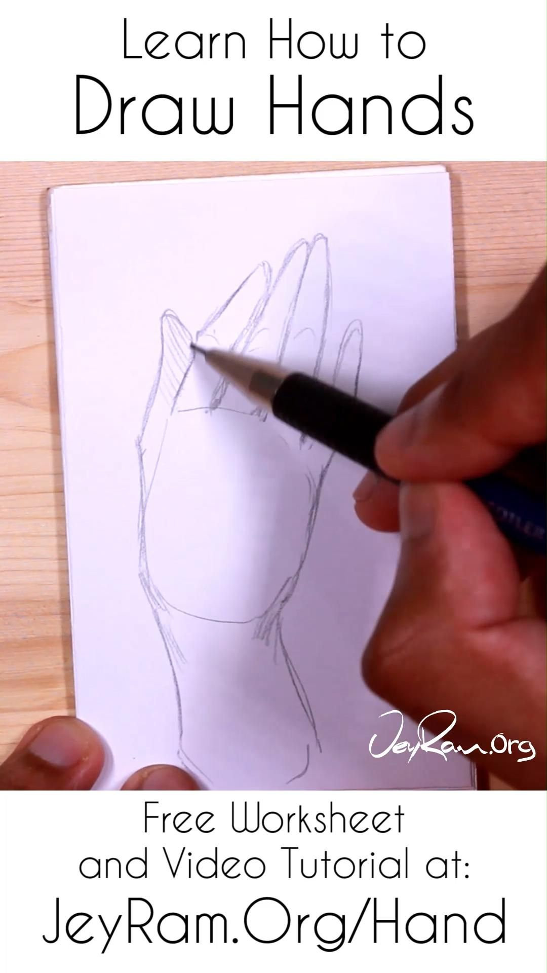 Learn How To Draw Hands For Beginners Video In 2020 How To Draw Hands Learn To Draw Drawings