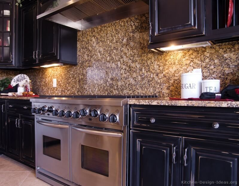 Kitchen Backsplash For Black Granite Countertops black galaxy granite, backsplash ideas - google search | kitchen