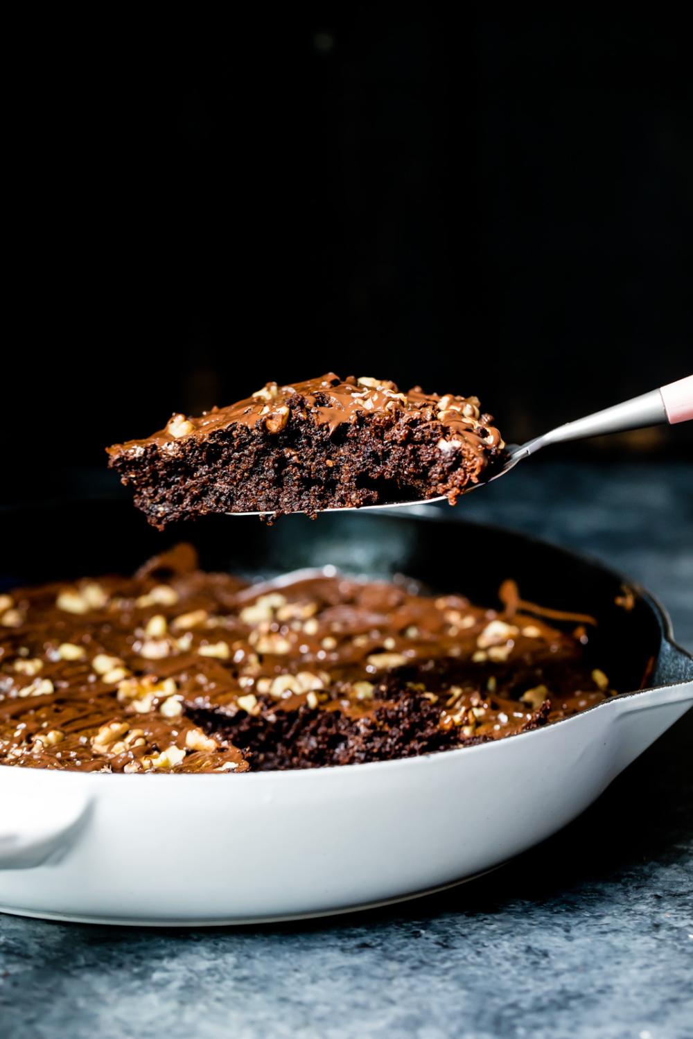 Grain Free Omega 3 Fudgy Walnut Brownie Skillet Recipe Coconut