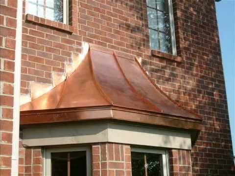 Copper Bay Window Roofs | Copper Roofing | Copper Awnings ...