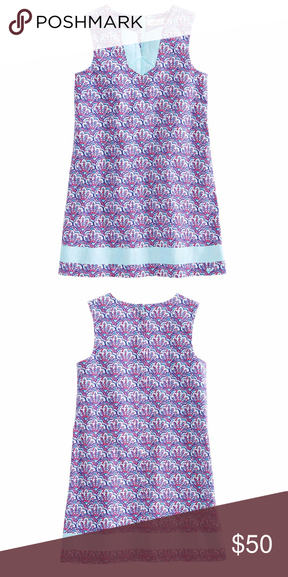 Vineyard Vines Girl\'s Scallop Print Dress 14 Vineyard Vines Size 14 ...
