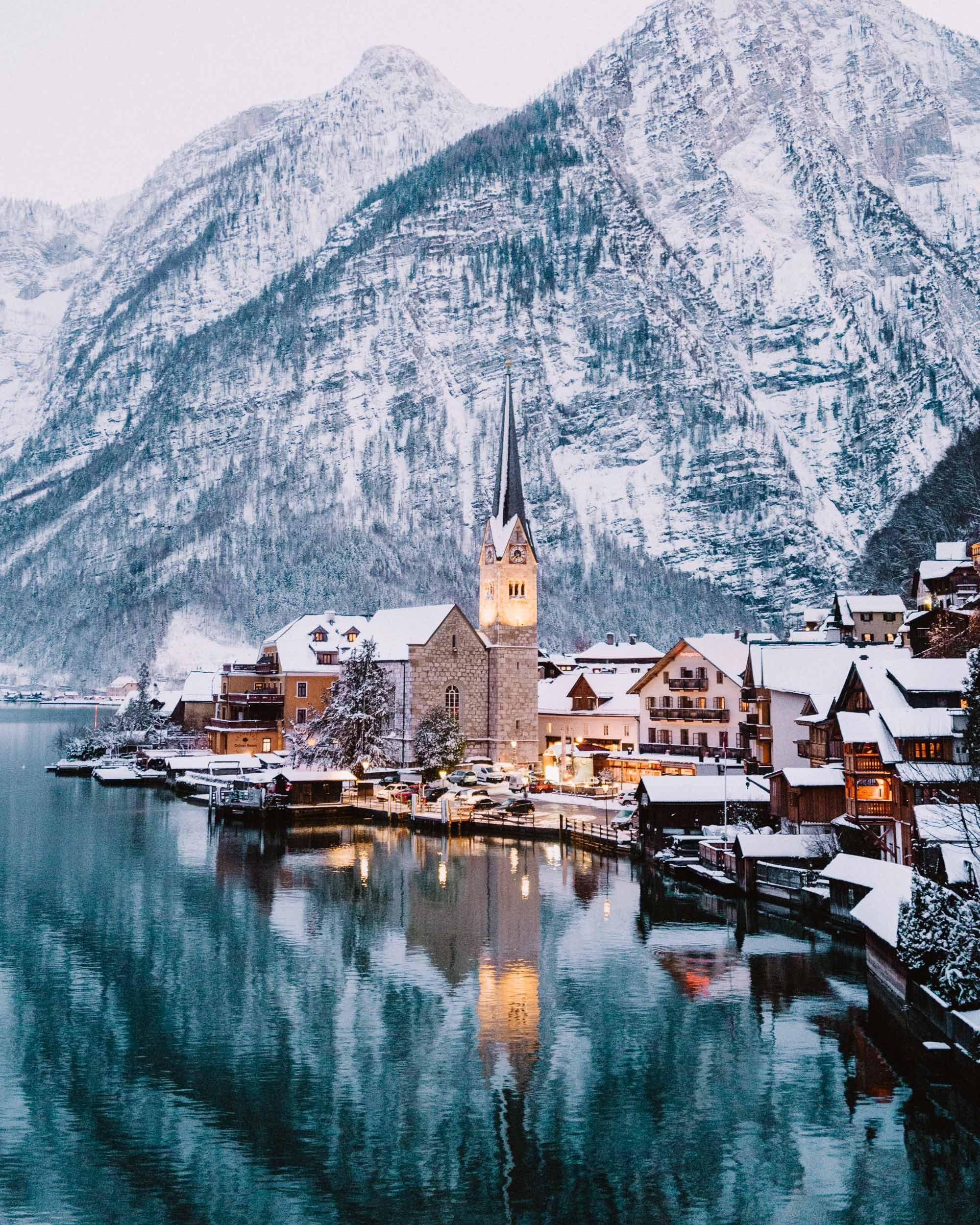 A Winter Fairytale In Hallstatt Austria Find Us Lost Greece Travel Guide Greece Travel Hallstatt